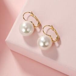 Elegant 18kt Yellow Gold Pearl Earrings By Tonia Jewellery